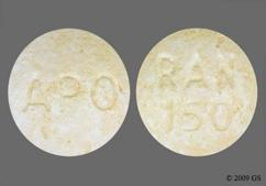 White Round Tablet Apo And Ran 150 - Ranitidine Hydrochloride 150mg Tablet