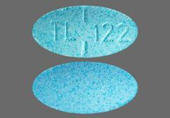 Blue Oval Tablet Tl 122 - Meclizine Hydrochloride 12.5mg Tablet