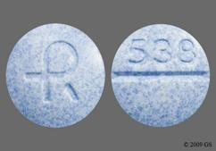 Blue Round Tablet Logo And 538 - Carbidopa/Levodopa 10mg-100mg Tablet