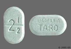 Green Oblong Tablet Warfarin Taro And 2 1/2 - Warfarin Sodium 2.5mg Tablet