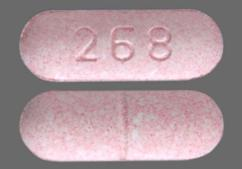 Pink Oblong Tablet 268 - Carbamazepine 200mg Tablet