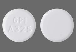 White Round Gpi A325 - Pain & Fever 325mg Tablet