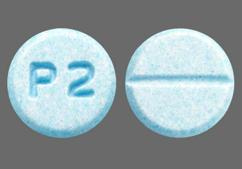 Blue Round P2 - Pramipexole Dihydrochloride 0.25mg Tablet