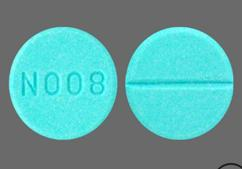 Blue Round Tablet N008 - Propranolol Hydrochloride 20mg Tablet