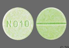 Green Round Tablet N010 - Propranolol Hydrochloride 40mg Tablet