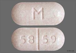 Pink Oval Tablet 58 59 And M - Metaxalone 800mg Tablet