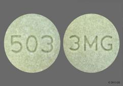 Green Round Tablet 3 Mg And 503 - Intuniv 3mg Extended-Release Tablet