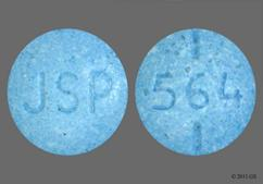 Blue Round Tablet 564 And Jsp - Levothyroxine Sodium 137mcg Tablet