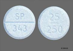 Blue Round Orally Disintegrating Tab Sp 343 And 25 250 - Parcopa 25mg-250mg Orally Disintegrating Tablet