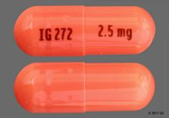 Orange Capsule Ig272 2.5 Mg - Ramipril 2.5mg Capsule