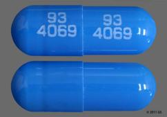 Blue Capsule Teva 4069 And 93 4069 93 4069 - Prazosin Hydrochloride 5mg Capsule