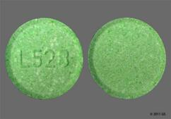 Green Round Chewable Tablet L528 - GoodSense Calcium Antacid Extra Strength 750mg Chewable Tablet