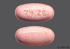 Pink Oblong Tablet 74 Ze - Erythromycin Ethylsuccinate 400mg Tablet