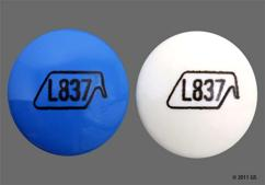 Blue And White Round L837 - Equaline Extra Strength Pain Relief PM Geltab
