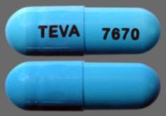 Blue Capsule Teva 7670 - Amlodipine Besylate/Benazepril Hydrochloride 5mg-40mg Capsule