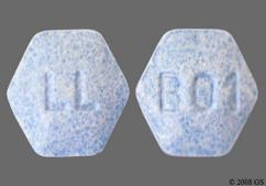 Blue Hexagon Tablet B01 And Ll - Lisinopril/Hydrochlorothiazide 10mg-12.5mg Tablet