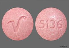 Pink Round Tablet 5136 And V - Promethazine Hydrochloride 50mg Tablet