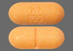 Peach Oblong Wp 0321 - Felbamate 600mg Tablet