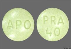 Green Round Tablet Apo And Pra 40 - Pravastatin Sodium 40mg Tablet
