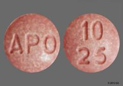 Red-Brown Round 10 25 And Apo - Enalapril Maleate/Hydrochlorothiazide 10mg-25mg Tablet