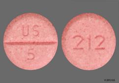 Pink Round 212 And Us 5 - Midodrine Hydrochloride 5mg Tablet