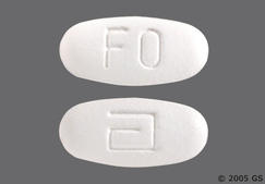White Oblong Logo And Fo - Fenofibrate 145mg Tablet