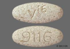 Tan Oval Tablet 9116 And V 16 - Viokace 20 Tablet