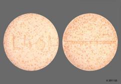 Orange Round Chewable Tablet L461 - Sunmark Junior Ibuprofen IB 100mg Chewable Tablet