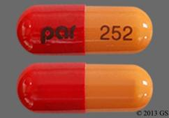 Red And Tan Capsule Par 252 - Olanzapine and Fluoxetine 12mg-25mg Capsule