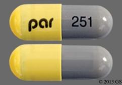 Gray And Yellow Capsule Par 251 - Olanzapine and Fluoxetine 6mg-50mg Capsule