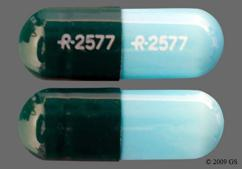 Blue And Green Capsule Logo 2577 Logo 2577 - Diltiazem Hydrochloride 180mg Extended-Release Capsule