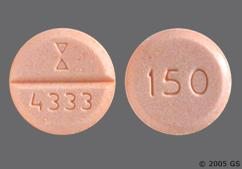 Peach Round Tablet 150 And 4333 - Nefazodone Hydrochloride 150mg Tablet