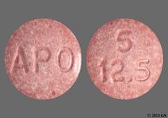 Red-Brown Round Tablet Apo And 5 12.5 - Enalapril Maleate/Hydrochlorothiazide 5mg-12.5mg Tablet