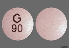 Pink Round Tablet G 90 - Nifedipine 90mg Extended-Release Tablet