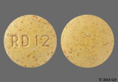 Yellow Round Tablet Rd 12 - Nephro-Vite Rx Tablet