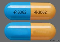 Blue And Orange Capsule Logo-3062 Logo-3062 - Amphetamine/Dextroamphetamine Salts 5mg Extended-Release Capsule