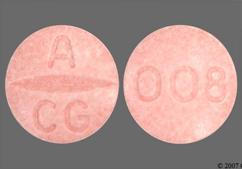 Pink Round Tablet 008 And A Cg - Candesartan Cilexetil 8mg Tablet