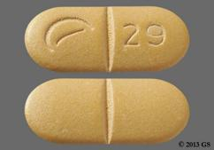 Yellow Oblong Logo 29 - Oxycodone Hydrochloride/Ibuprofen 5mg-400mg Tablet
