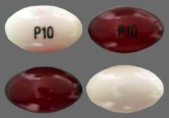 Red And White Capsule P10 - CVS Stool Softener 100mg Softgel
