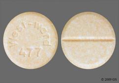 Peach Round West-Ward 477 - Prednisone 20mg Tablet