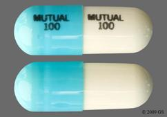 Blue And White Capsule Mutual 100 Mutual 100 - Doxycycline Hyclate 50mg Capsule