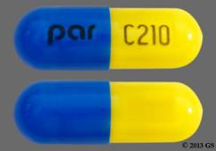 Blue And Yellow Par C210 - Fenofibric Acid 135mg Delayed-Release Capsule