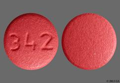 Red Round Tablet 342 - Benazepril Hydrochloride 10mg Tablet