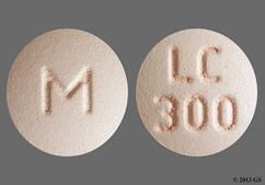 Peach Round Lc 300 And M - Lithium Carbonate 300mg Extended-Release Tablet
