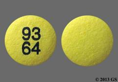 Yellow Round 93 64 - Rabeprazole Sodium 20mg Delayed-Release Tablet