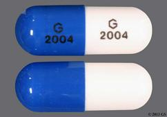 Blue And White G 2004 G 2004 - Ziprasidone Hydrochloride 80mg Capsule
