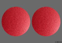 red round tablet - Ferrous Sulfate 325mg Tablet