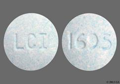 Blue Round Tablet 1695 And Lci - Butalbital/Acetaminophen/Caffeine 50mg-325mg-40mg Tablet