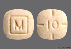 Beige Square Tablet 10 And M - Amphetamine/Dextroamphetamine Salts 10mg Tablet