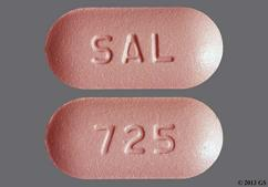 Pink Oblong 725 And Sal - Mycophenolate Mofetil 500mg Tablet